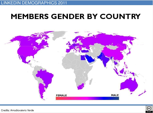 linkedin members by gender