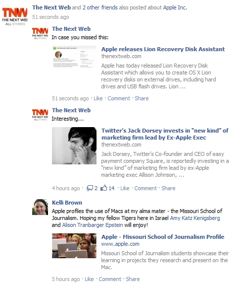 facebook aggregation news feed