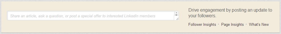 linkedin, status update, company page