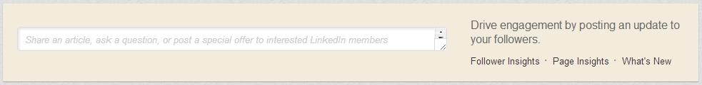 linkedin, status update, company page