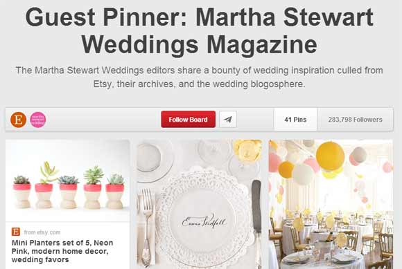 martha stewart weddings guest pins