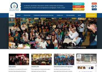 The Leo Baeck Education Center English-language website and blog, designed and developed by Pixel/ Point Press