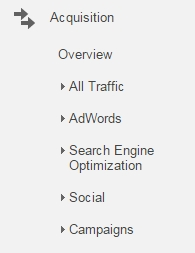 """Campaigns"" are found under ""Acquisition"" in Google Analytics"