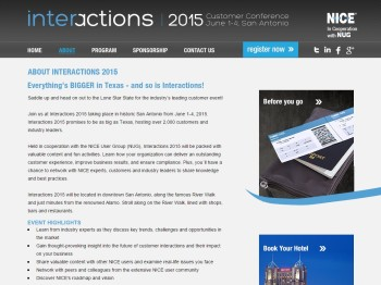 Our work with NICE included promotion of their premiere annual event, Interactions.