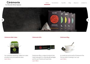 The Ceremonie Tea website was designed and developed by Pixel/Point Press. The site launched in July 2013.