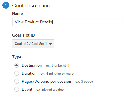 goal description google analytics google url builder